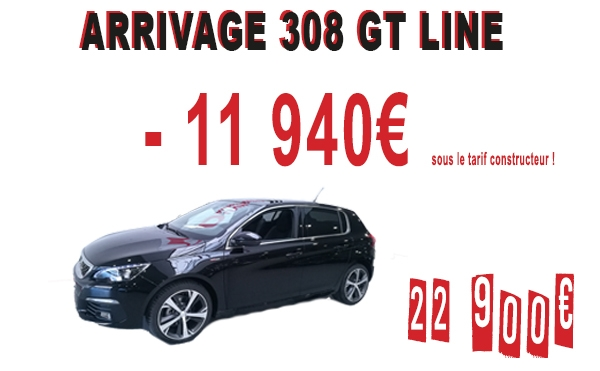 ARRIVAGE 308 GT LINE